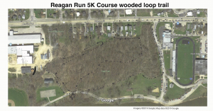 Reagan Run 5K Course wooded loop trail