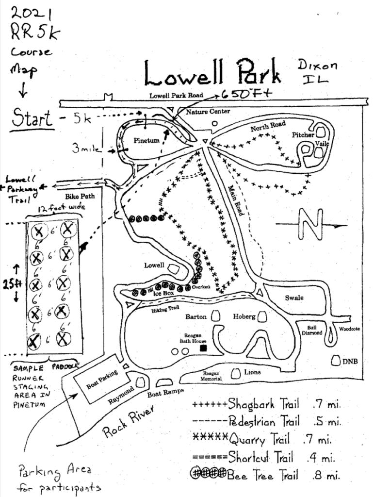 2021 Reagan Run Race Course map